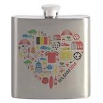 Belgium World Cup 2014 Heart Flask