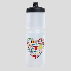 Belgium World Cup 2014 Heart Sports Bottle