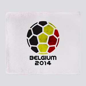 Belgium World Cup 2014 Throw Blanket