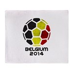 Belgium World Cup 2014 Throw Blanket