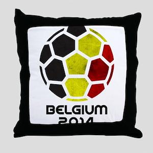Belgium World Cup 2014 Throw Pillow