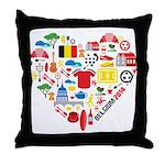 Belgium World Cup 2014 Heart Throw Pillow