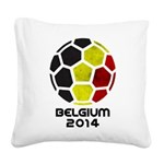 Belgium World Cup 2014 Square Canvas Pillow