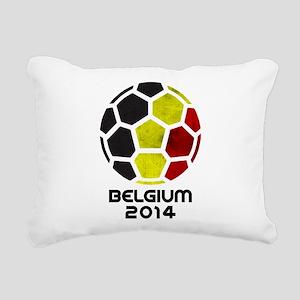 Belgium World Cup 2014 Rectangular Canvas Pillow