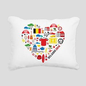 Belgium World Cup 2014 H Rectangular Canvas Pillow