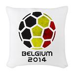 Belgium World Cup 2014 Woven Throw Pillow