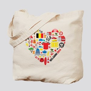 Belgium World Cup 2014 Heart Tote Bag