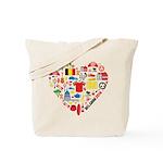 Belgium World Cup 2014 Heart Tote Bag