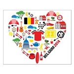 Belgium World Cup 2014 Heart Small Poster