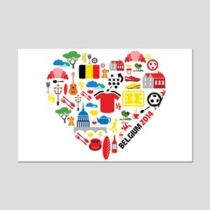 Belgium World Cup 2014 Heart Mini Poster Print