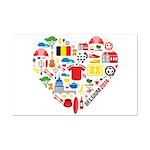 Belgium World Cup 2014 Heart Mini Poster Print