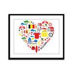 Belgium World Cup 2014 Heart Framed Panel Print