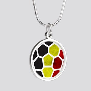Belgium World Cup 2014 Silver Round Necklace