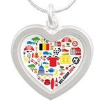 Belgium World Cup 2014 Heart Silver Heart Necklace
