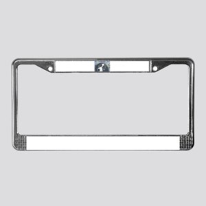 Forget me not Border Collie License Plate Frame