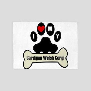 I Heart My Cardigan Welsh Corgi 5'x7'Area Rug