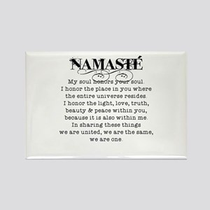 Namaste Rectangle Magnet Magnets