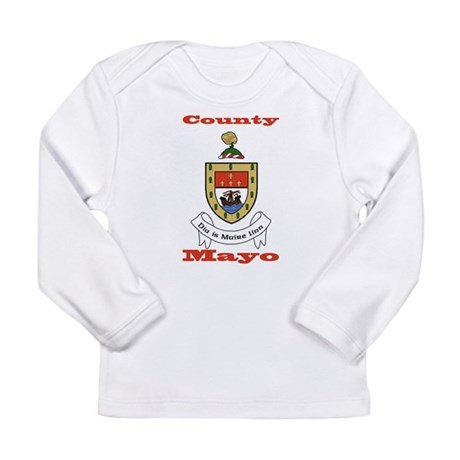 Up Mayo! Up Mayo! Maigh Eo Long Sleeve T-shirt Maigh Eo Manicotto Lungo Maglietta MzKwg83An