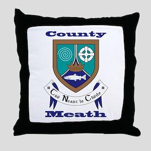 County Meath COA Throw Pillow