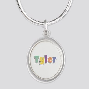 Tyler Spring14 Silver Oval Necklace