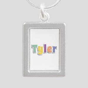 Tyler Spring14 Silver Portrait Necklace