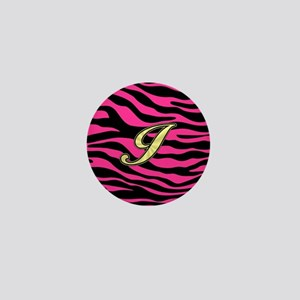 HOT PINK ZEBRA GOLD I Mini Button