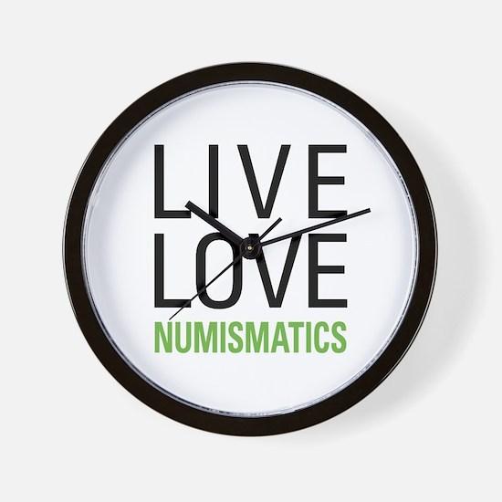 Live Love Numismatics Wall Clock