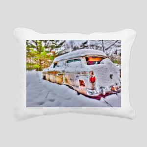 Snowed in Rectangular Canvas Pillow