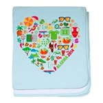 Algeria World Cup 2014 Heart baby blanket