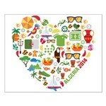 Algeria World Cup 2014 Heart Small Poster