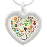 Algeria World Cup 2014 Heart Silver Heart Necklace