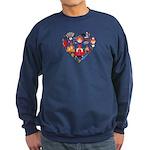 Russia World Cup 2014 Heart Sweatshirt (dark)