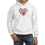 Russia World Cup 2014 Heart Hooded Sweatshirt