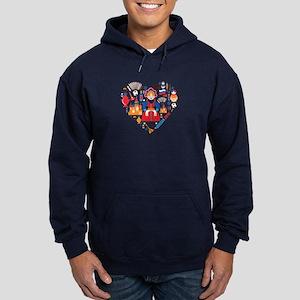 Russia World Cup 2014 Heart Hoodie (dark)