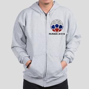 Russia World Cup 2014 Zip Hoodie