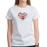 Russia World Cup 2014 Heart Women's T-Shirt
