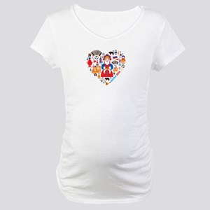 Russia World Cup 2014 Heart Maternity T-Shirt