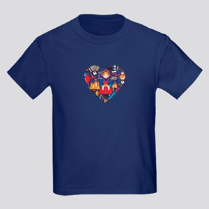 Russia World Cup 2014 Heart Kids Dark T-Shirt