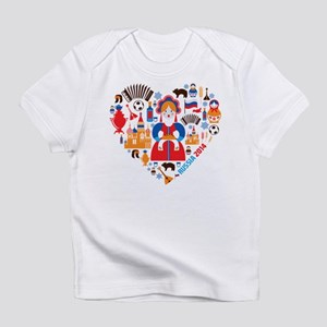 Russia World Cup 2014 Heart Infant T-Shirt
