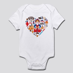 Russia World Cup 2014 Heart Infant Bodysuit
