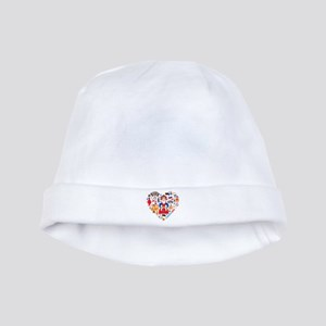 Russia World Cup 2014 Heart baby hat