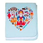 Russia World Cup 2014 Heart baby blanket