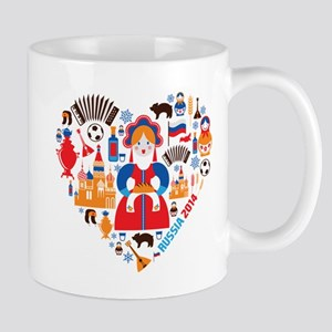 Russia World Cup 2014 Heart Mug