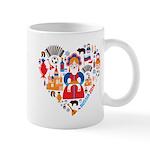 Russia World Cup 2014 Heart Mug