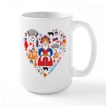 Russia World Cup 2014 Heart Large Mug