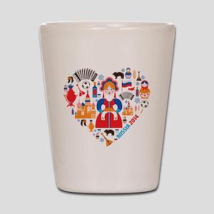 Russia World Cup 2014 Heart Shot Glass