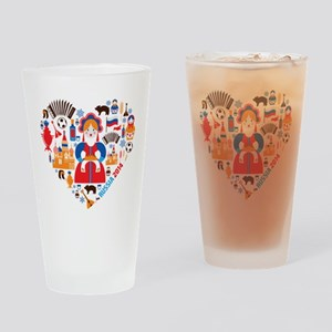 Russia World Cup 2014 Heart Drinking Glass