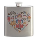 Russia World Cup 2014 Heart Flask