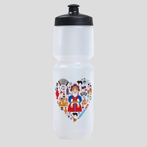 Russia World Cup 2014 Heart Sports Bottle