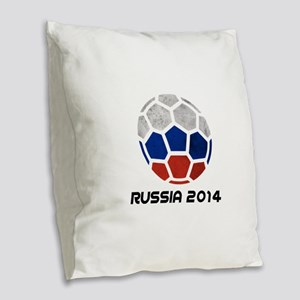 Russia World Cup 2014 Burlap Throw Pillow